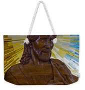 Wood Carving Of Jesus Weekender Tote Bag