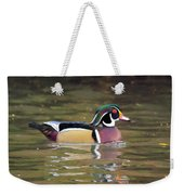 Wood Duck In A Pond Weekender Tote Bag