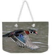 Wood Duck In Action Weekender Tote Bag