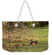 Wood Duck In The Fall Weekender Tote Bag