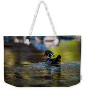 Wood Duck On Mill Creek Weekender Tote Bag