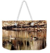 Wood Ducks Enjoying The Pond Weekender Tote Bag