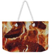 Wood Fire Mosaic Weekender Tote Bag