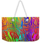 Wood Fire Rainbow Weekender Tote Bag
