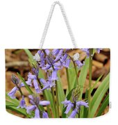 Wood Hyacinth Blue Weekender Tote Bag