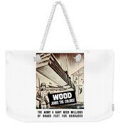 Wood Joins The Colors - Ww2 Weekender Tote Bag