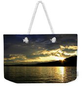 Wood Lake Sunburst Weekender Tote Bag