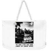 Wood Lands Our Fighters Weekender Tote Bag