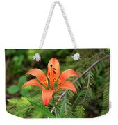 Wood Lily Also Called Prairie Lily Or Western Red Lily Weekender Tote Bag