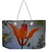 Wood Lily With Lake Superior In Background Weekender Tote Bag
