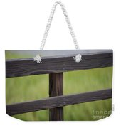 Wood Railing Over The Marsh Weekender Tote Bag