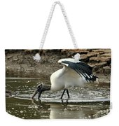 Wood Stork Fishing Weekender Tote Bag