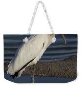 Wood Stork In The Final Light Of Day Weekender Tote Bag