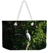Wood Stork-out On A Limb Weekender Tote Bag