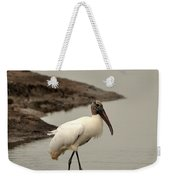 Wood Stork Walking Weekender Tote Bag