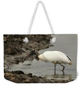 Wood Stork With Fish Weekender Tote Bag