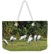 Wood Storks 2 - There Is Always One In A Crowd Weekender Tote Bag