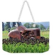 Woodburn Oregon - Tractor And Field Of Tulips Weekender Tote Bag