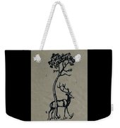 Woodcut Deer Weekender Tote Bag