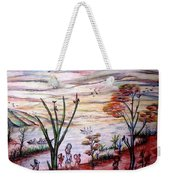 Wooded Beachfront With Fun Seekers Weekender Tote Bag