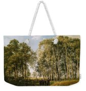 Wooded Landscape With A Group Of Figures In Costume Weekender Tote Bag