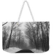 Wooded Winter Road Weekender Tote Bag