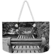 Wooden Bench Weekender Tote Bag