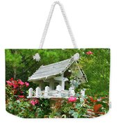 Wooden Bird House On A Pole 4 Weekender Tote Bag