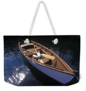 Wooden Boat And Paddles In Halibut Cove Weekender Tote Bag