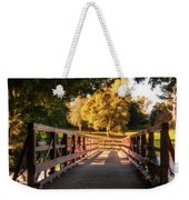 Wooden Bridge On The Rye Water - Maynooth, Ireland Weekender Tote Bag