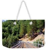 Wooden Bridge Over Deep Gorge Weekender Tote Bag