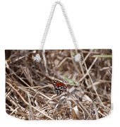Wooden Butterfly Weekender Tote Bag