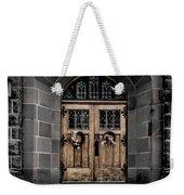 Wooden Church Door In Stone Archway Weekender Tote Bag