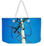 Wooden Electric Pole Weekender Tote Bag