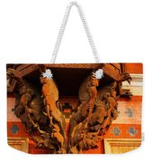 Wooden Elephants Weekender Tote Bag