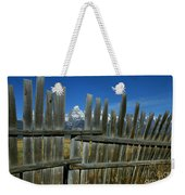 Wooden Fence, Grand Tetons Weekender Tote Bag