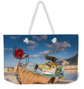 Wooden Fishing Boat On Shore Weekender Tote Bag