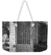 Wooden Garden Door B W Weekender Tote Bag