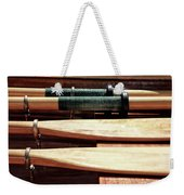 Wooden Oar Pattern Weekender Tote Bag