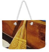 Wooden Paddle And Canoe Weekender Tote Bag