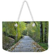 Wooden Path Weekender Tote Bag