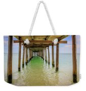 Wooden Pier Stretching Into The Sea Weekender Tote Bag