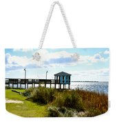 Wooden Pier With Pavilion Weekender Tote Bag