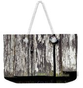 Wooden Plate With  Nails Weekender Tote Bag