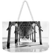 Wooden Post Under A Pier On The Beach Weekender Tote Bag