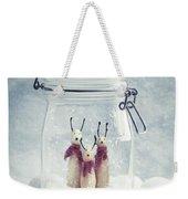 Wooden Reindeer Figures Weekender Tote Bag