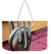 Wooden Ship Block And Tackle 13922  Weekender Tote Bag