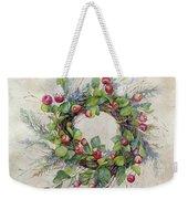 Woodland Berry Wreath Weekender Tote Bag