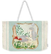 Woodland Fairy Tale - Woodchucks In The Forest W Red Mushrooms Weekender Tote Bag
