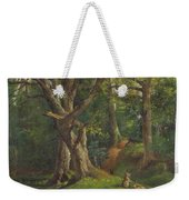 Woodland Scene With Rabbits Weekender Tote Bag